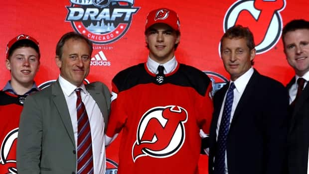 cb1f19236 New Jersey Devils select Nico Hischier 1st overall | CBC Sports