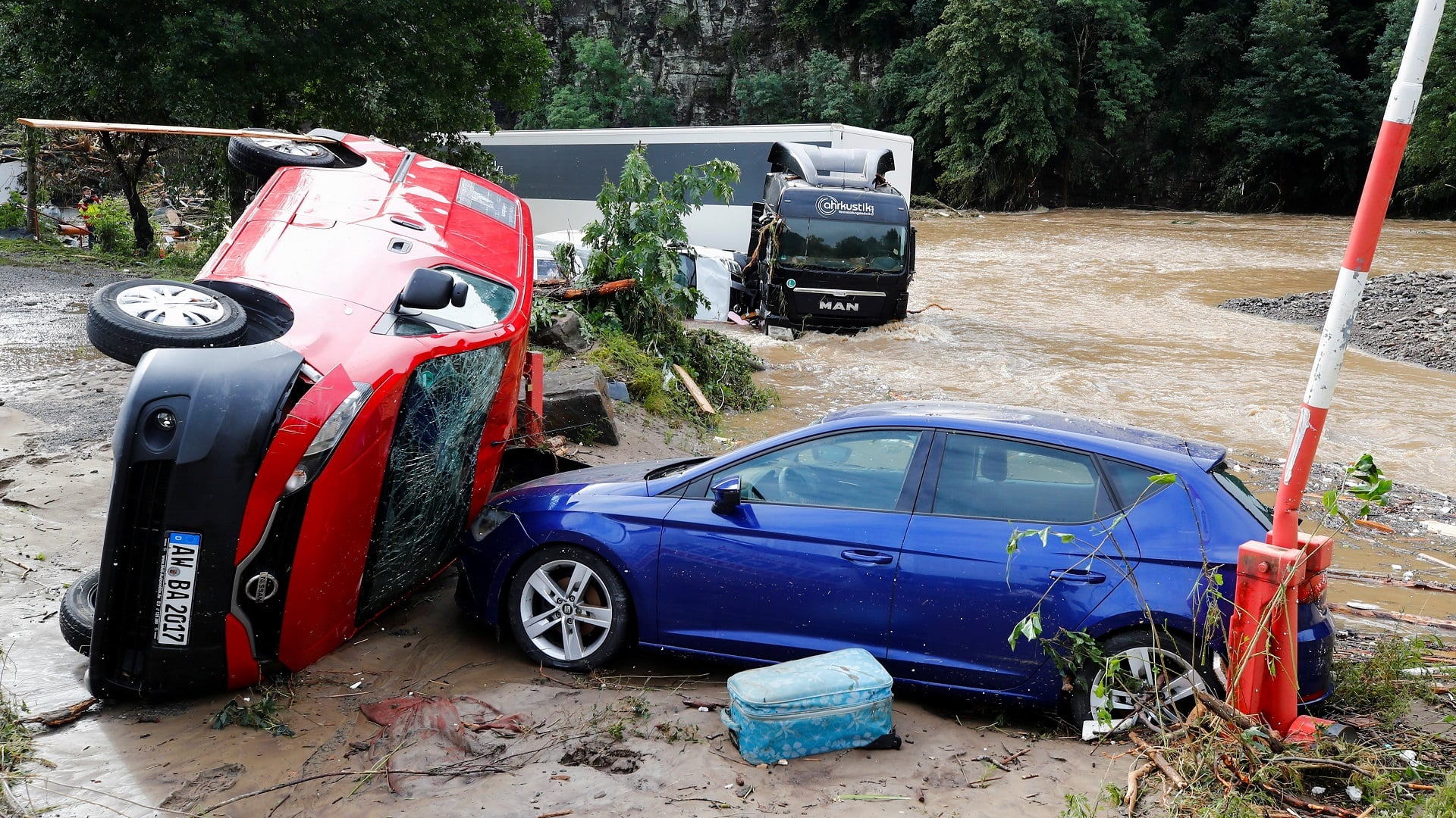 Rain, floods cause chaos in parts of Germany, Belgium