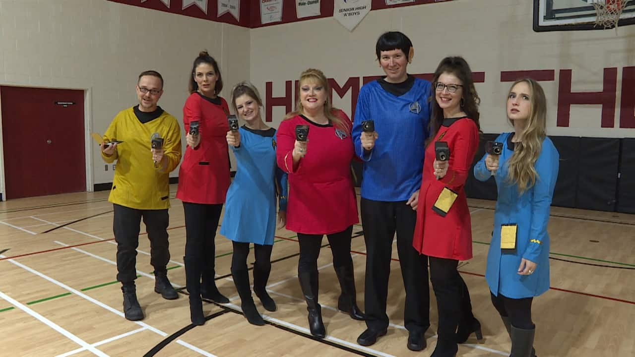 teachers reveal creative halloween costumes with fanfare at holy