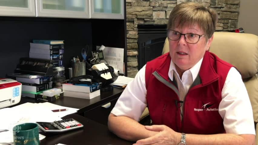 Terri Super about why there aren't more female pilots (even though they are  great at flying)