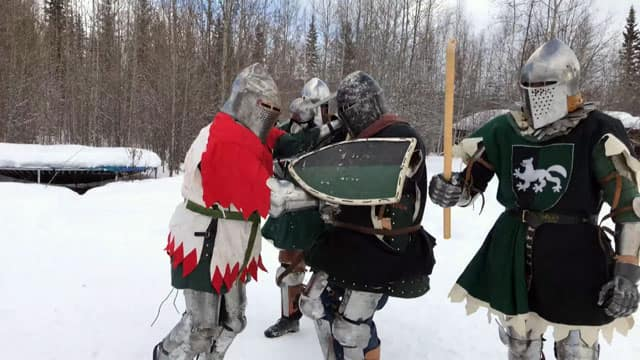 Company of the White Wolf trains for medieval combat