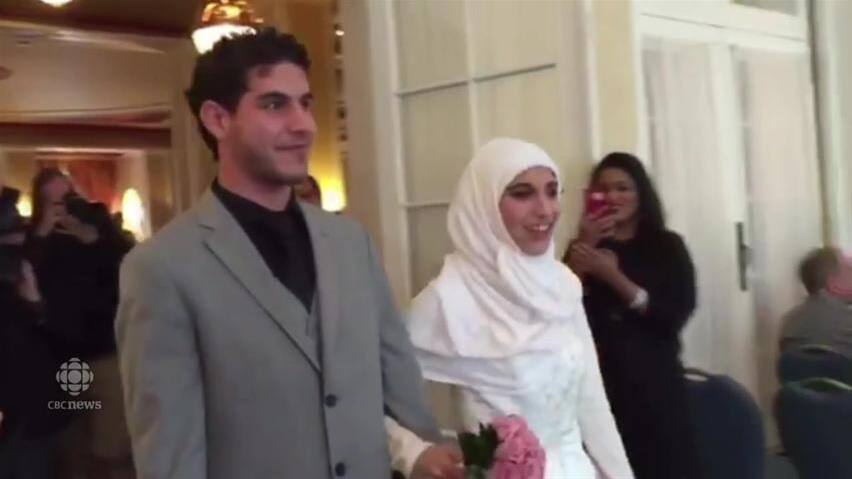 Surprise wedding reception for syrian refugees in saskatoon cbc news junglespirit Image collections