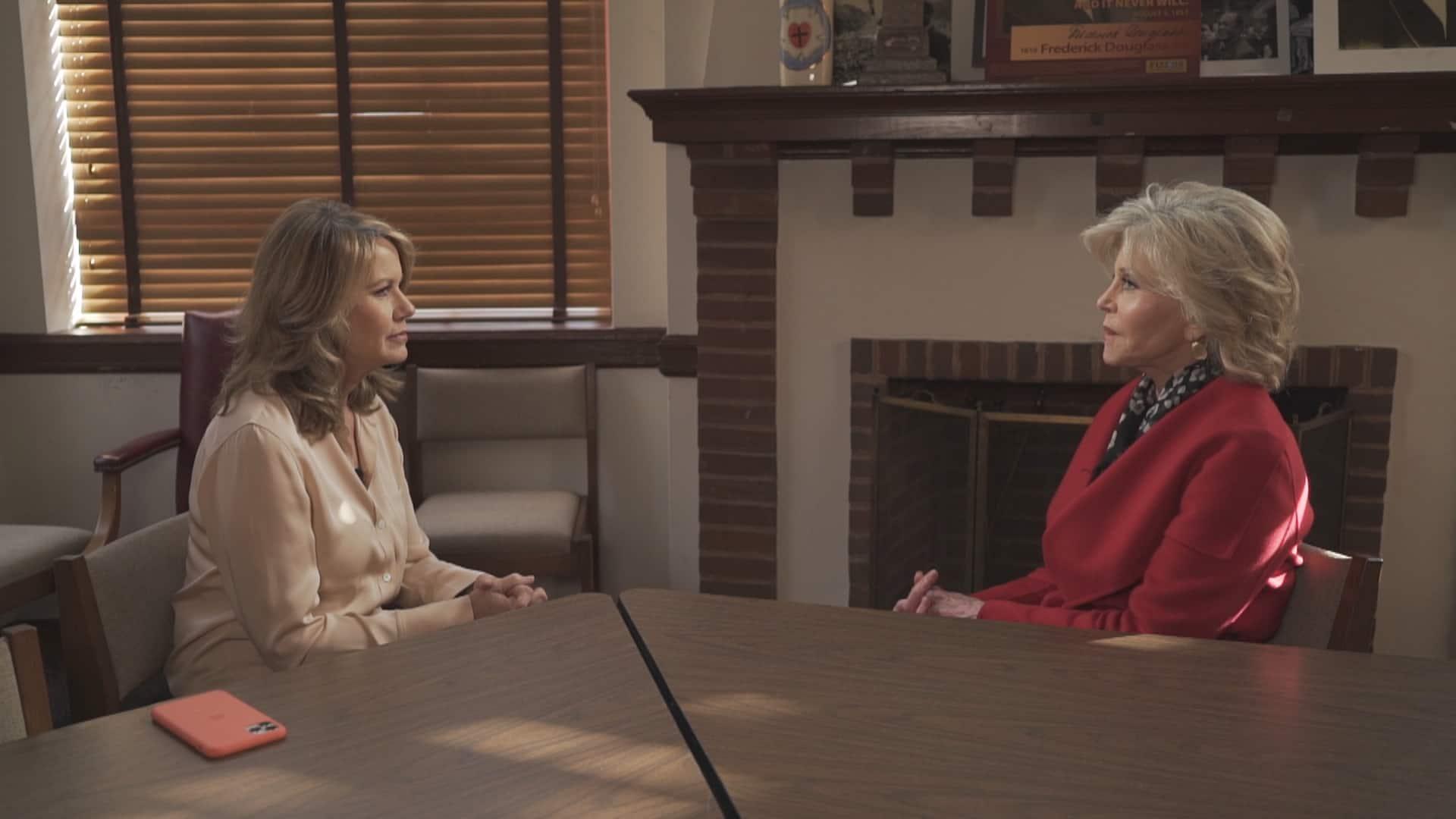 Image result for cbc: Jane Fonda speaks to CBC's Susan Ormiston