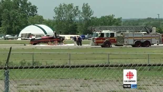 Biplane crash injures 2
