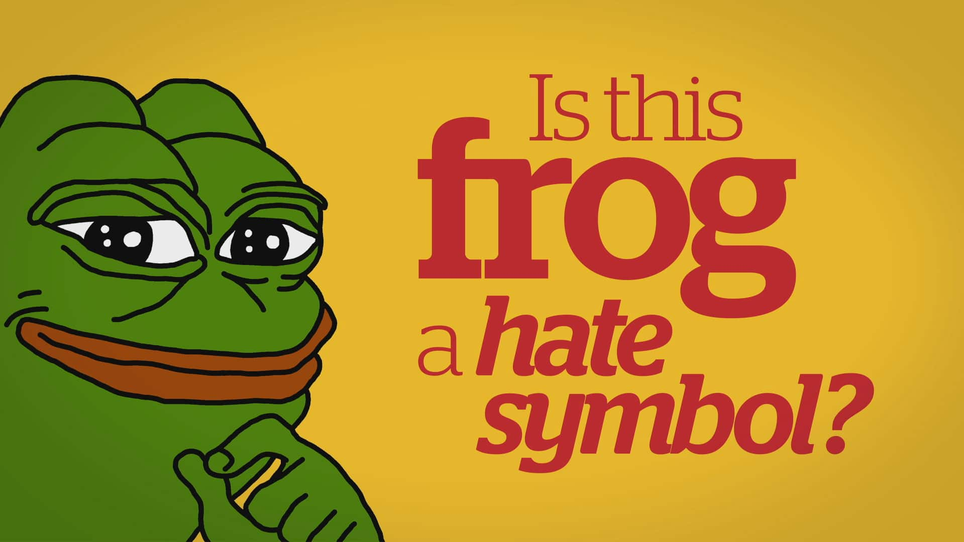 Is Pepe the Frog a hate symbol World CBC News