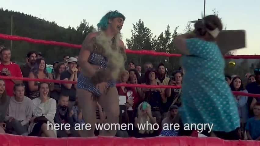 Nude women large boobs abuse