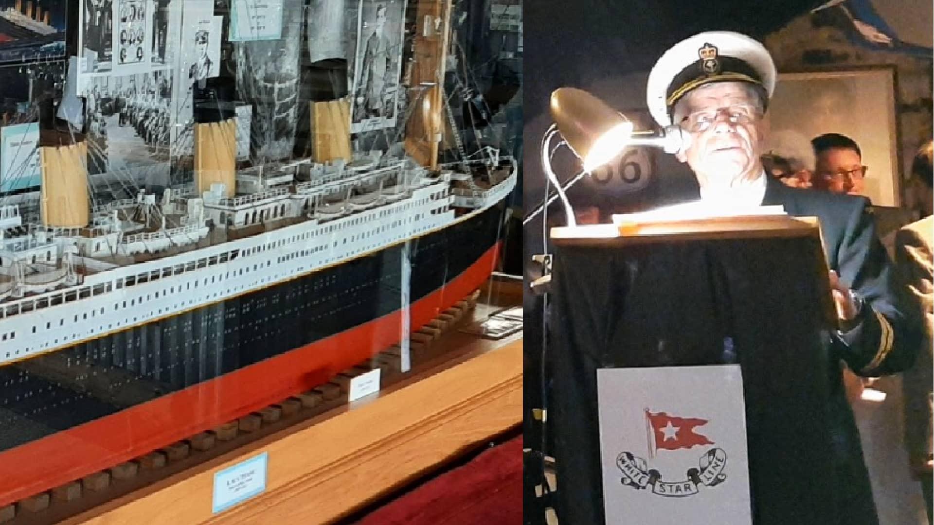 Musician Ray Johnson unveils his massive model of the Titanic