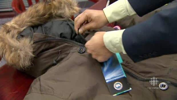 how to spot a fake Canada Goose' coat
