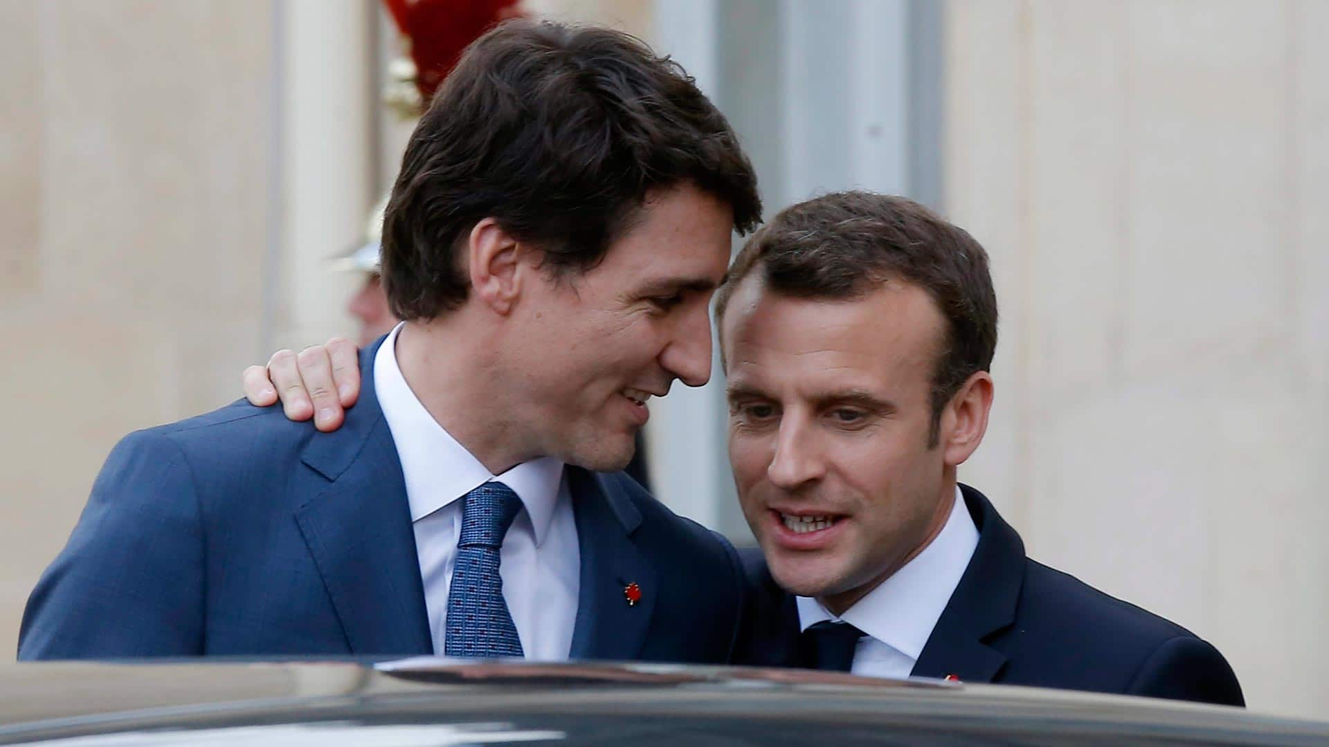 Trudeau And Macron Friends Who Agree To Disagree Cbc Ca