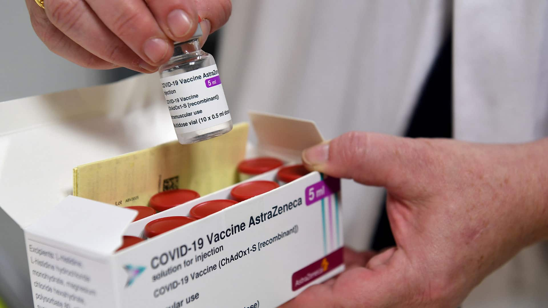 Health workers dissatisfied they are receiving 'least efficacious vaccine'