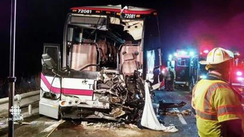 Bus crash in New York