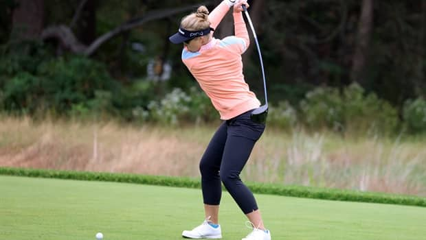 Brooke Henderson matches career low score at a major to move into  contention | CBC.ca