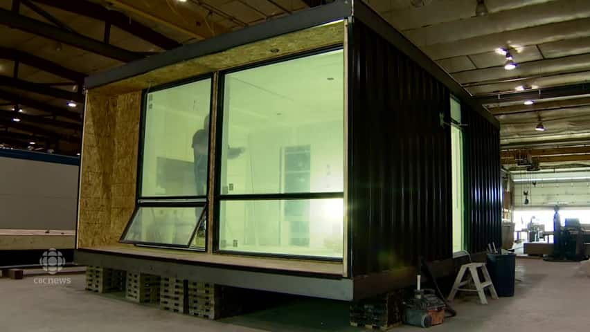 Turning a shipping container into your next home cbc player - Turning shipping containers into homes ...