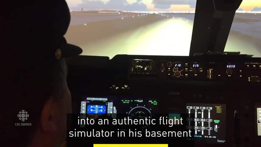 Basement flight simulator