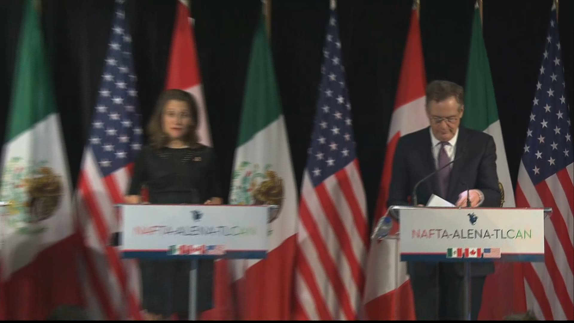 Lighthizer and Freeland have duelling trade deficit numbers