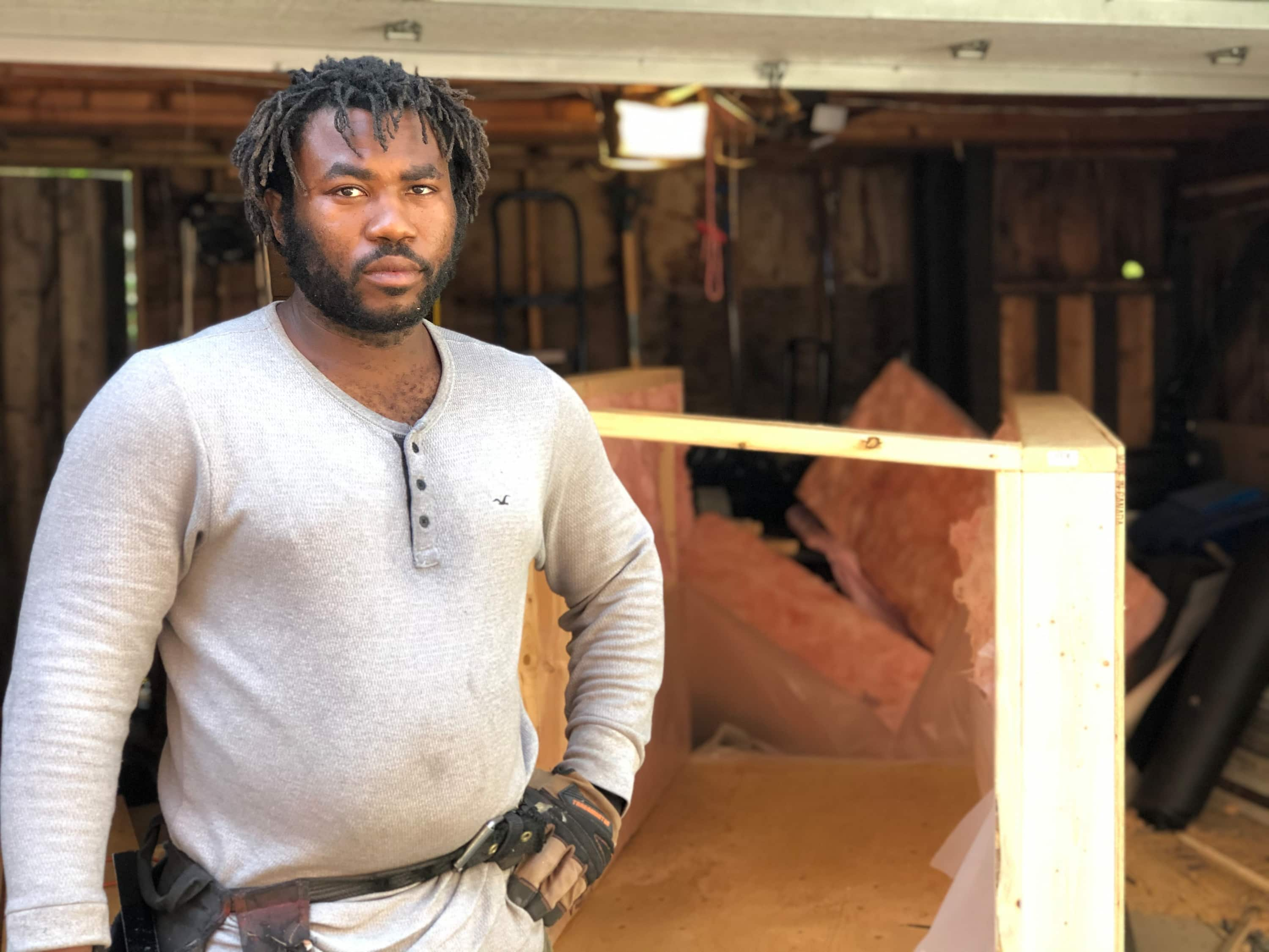 Khaleel Seivwright is building insulated, mobile shelters for homeless people who choose to stay outdoors this winter.