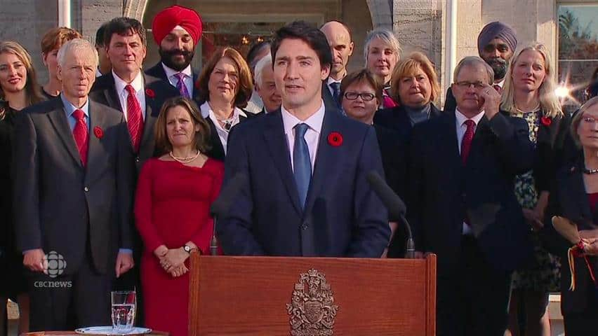 Because it's 2015': Trudeau forms Canada's 1st gender-balanced ...