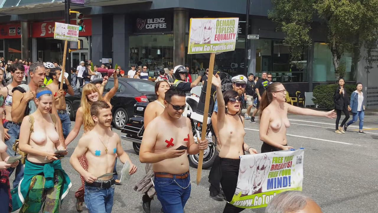 Shirtless And Marching To His Own >> Warning Nude Photos And Video Of Women Marching In Go Topless