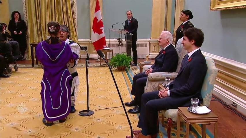 Throat singers perform for Trudeau, new cabinet - CBC Player