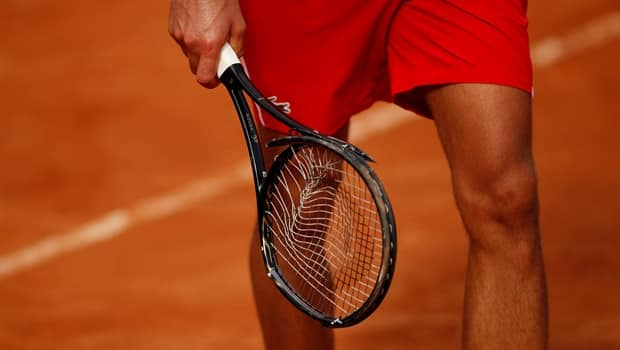 Novak Djokovic Damages Racket In Fit Of Anger During Italian Open Quarter Finals Cbc Sports