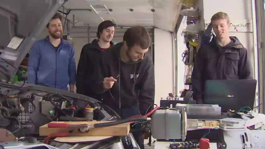 UNB engineering students find a quicker way to convert engines to electric