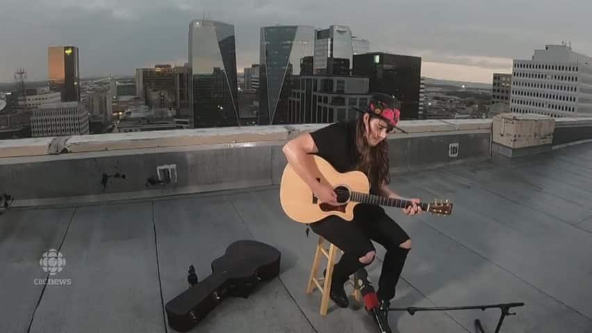 Forrest Eaglespeaker performs
