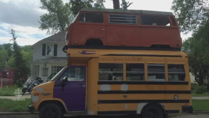 Double-decker Franken-bus