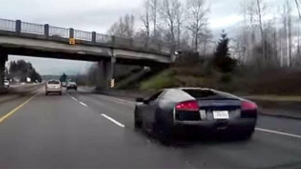 Spectacular Lamborghini Crash Caught On Dash Cam Video Cbc News