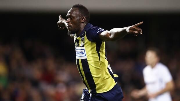 Usain Bolt Scores 2 Goals In First Start For Australian Soccer Team