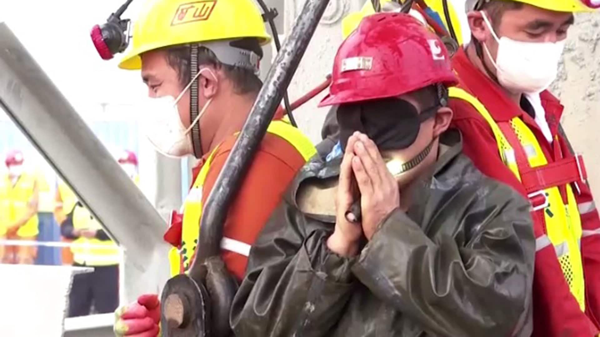 Trapped for 2 weeks, 11 workers rescued from gold mine in China thumbnail