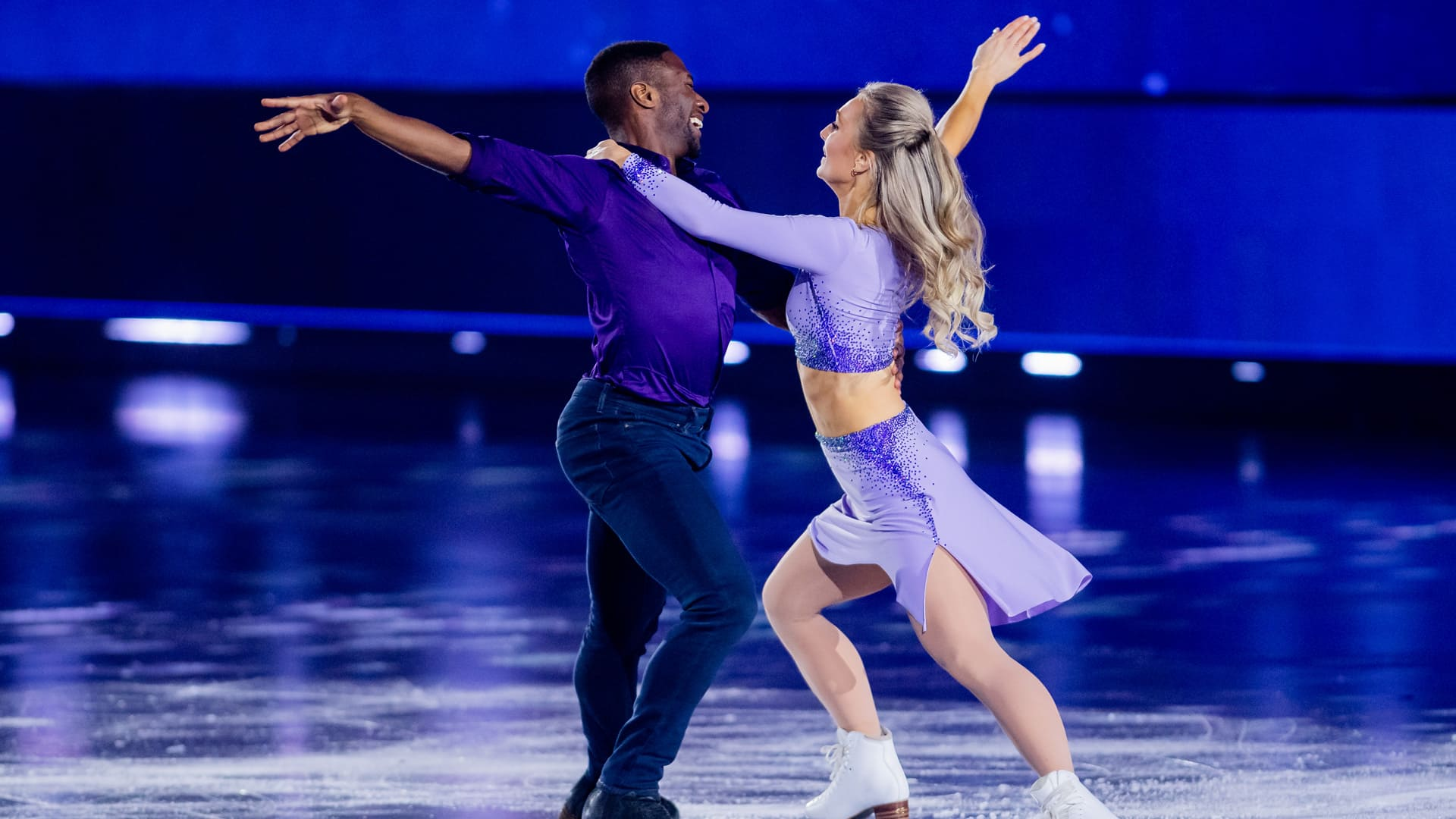 Jessica Campbell and Asher Hill perform ...