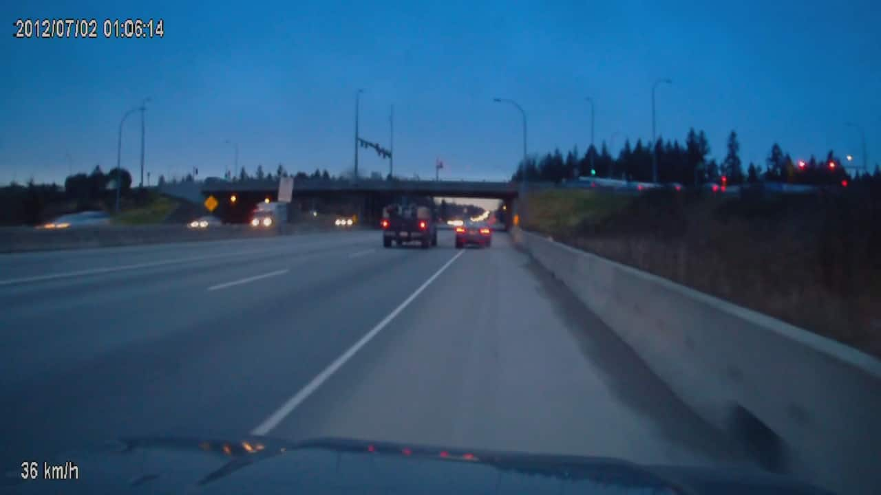 Road rage: Truck appears to drive car off the highway in Langley ...