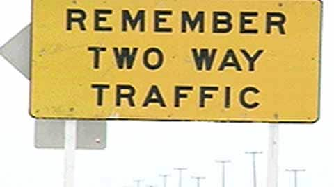 Digital Archives - Trans-Canada: Two-lane danger zones