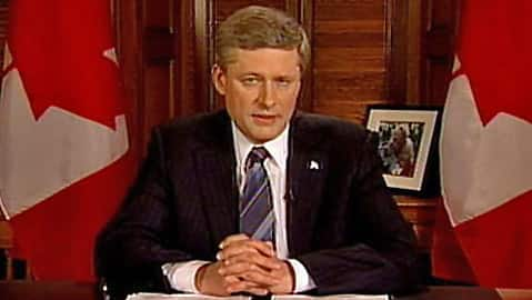 Digital Archives - Prime Ministers Address the Nation: Stephen Harper addresses political turmoil